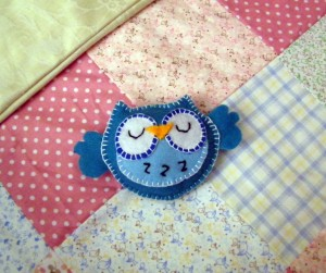 Grans Felt Owl Made for the Mobile