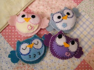 Felt Owls to be Used for a Mobile