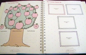Pages I can complete now, such as Family Tree
