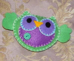 Green Owl Made By Mummy & Daddy