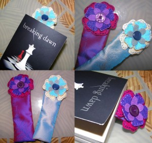 Felt and Button Flower Bookmarks for Mothers Day