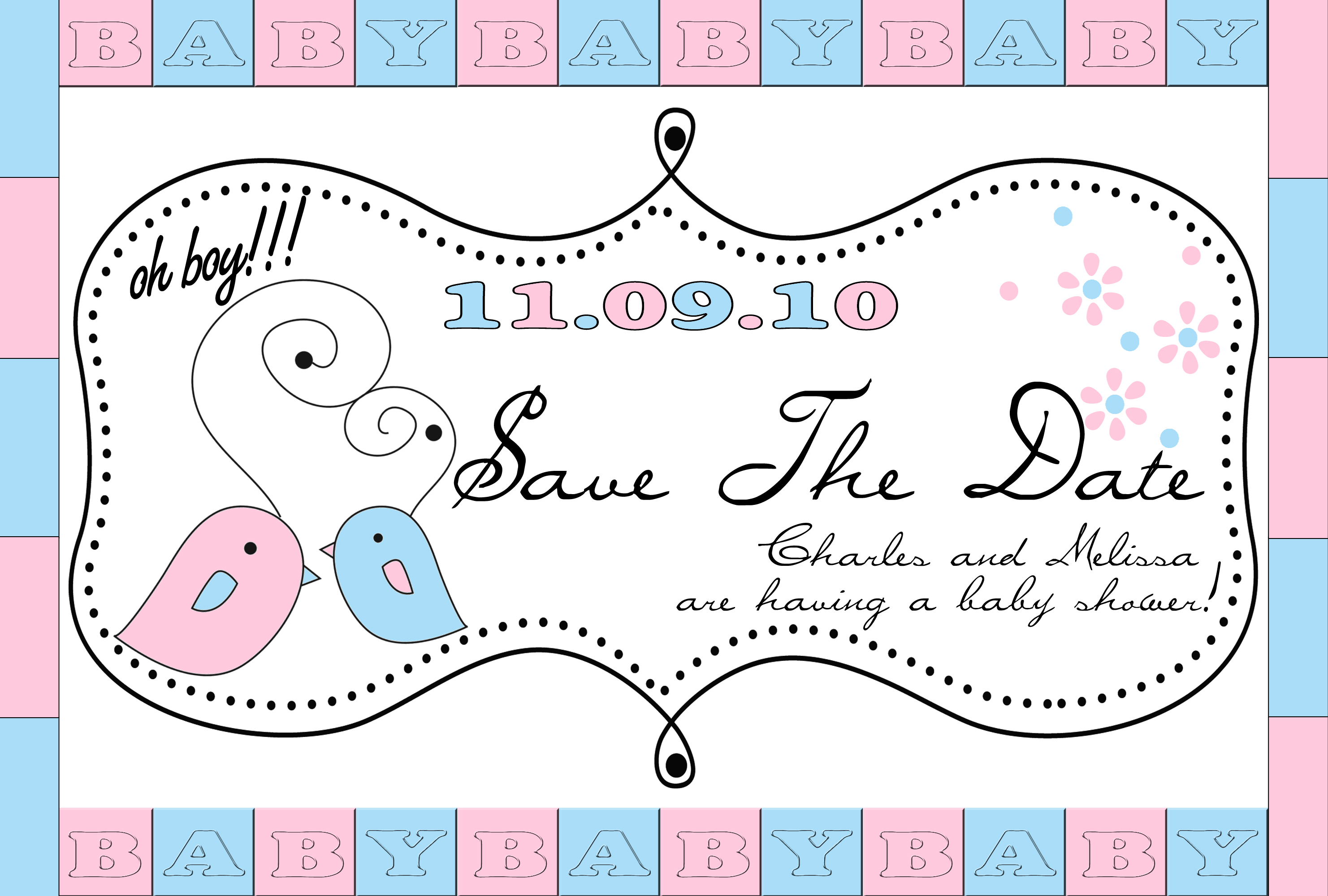 Baby Shower Save the Date : Pregnancy Baby Child