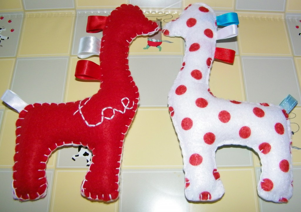 Baby Felt Toy Giraffes Made for Addison