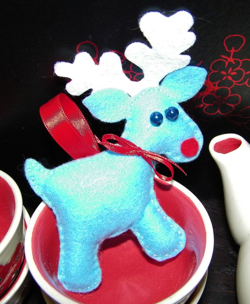 My Finished Reindeer Christmas Tree Decoration