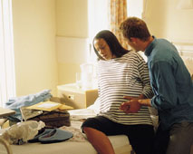 Make Your Way to the Hospital when Contractions are at Regular 5 min Intervals & Last About 45 secs.
