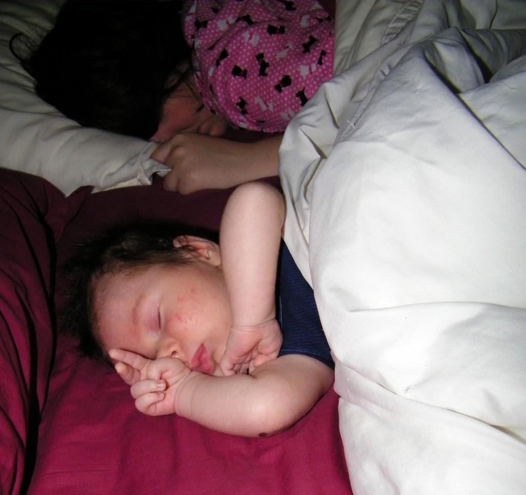 Addi and Mummy Sleeping