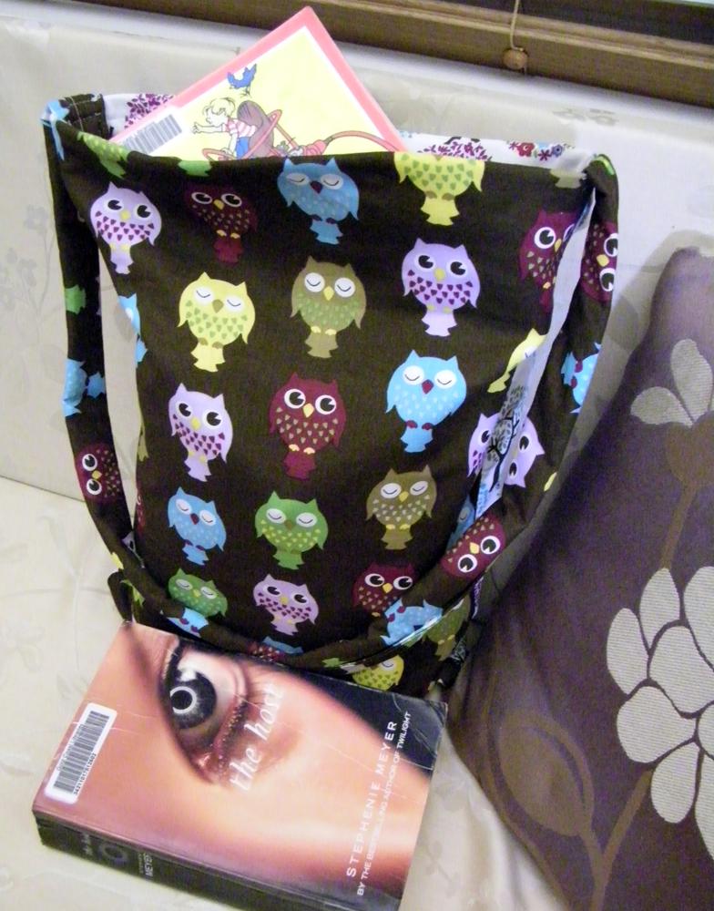 Addi's Owl Library Bag