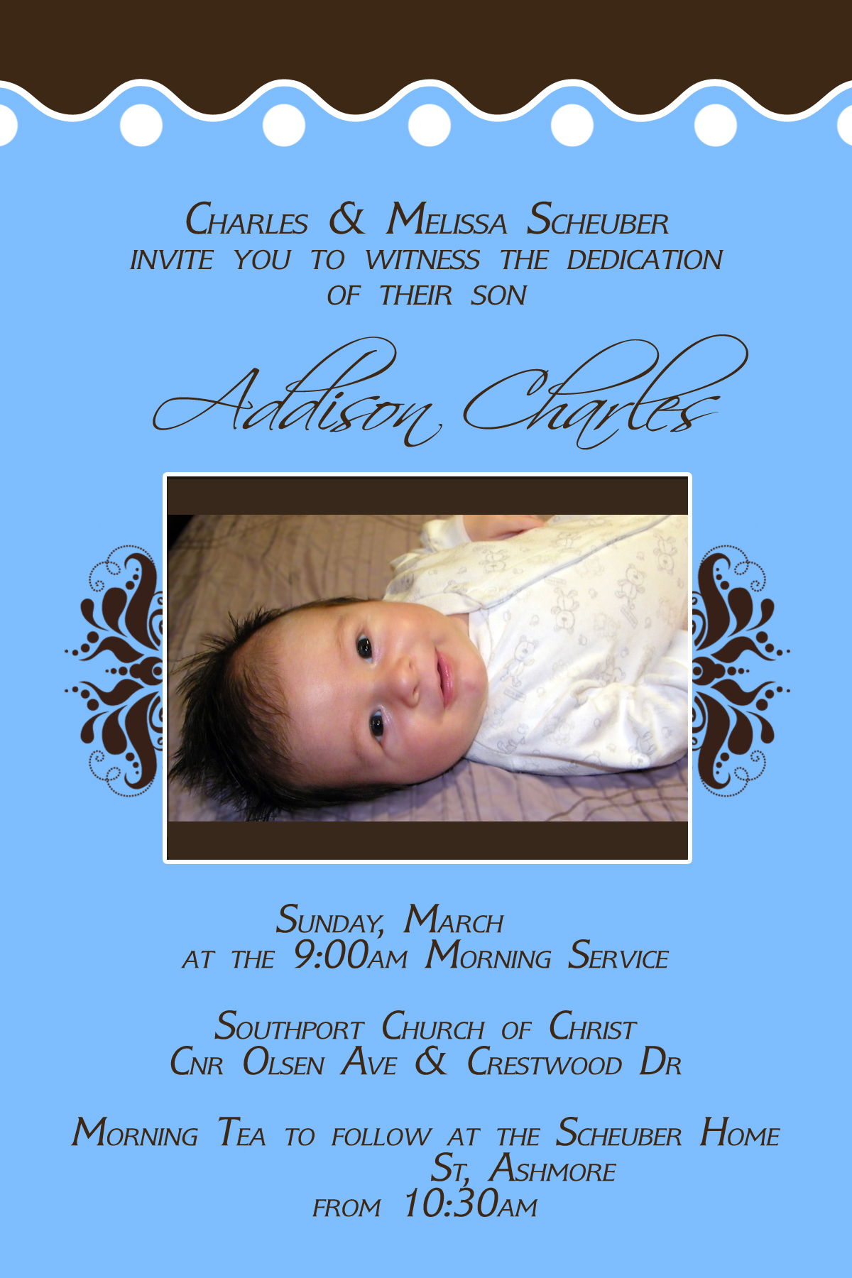 Dedication Invitations Pregnancy Baby
