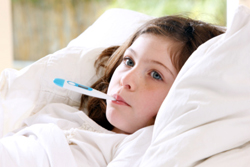 Avoid Children and Adults With A Fever