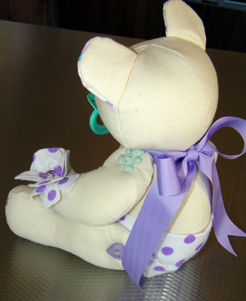 The Back of the Baby Signature Bear