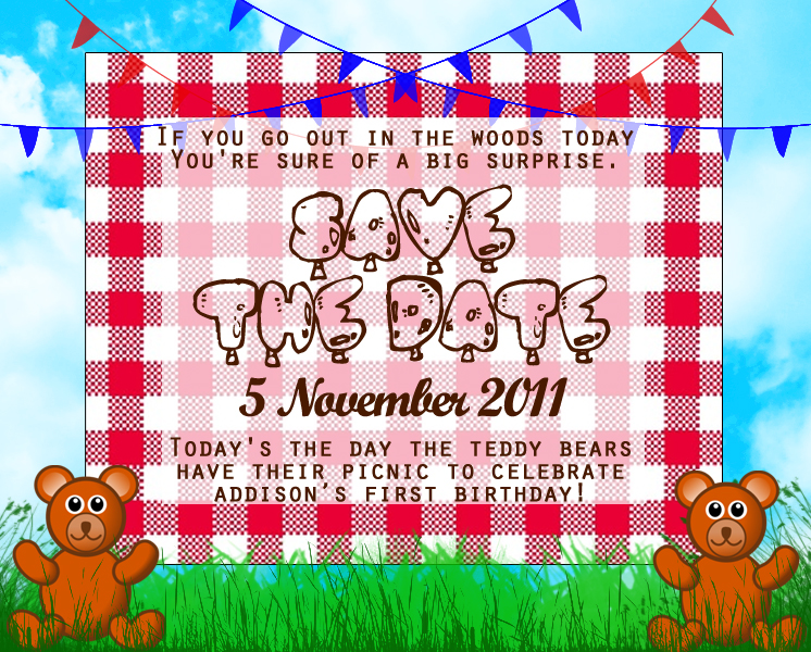 Save The Date - Addison Turns One!