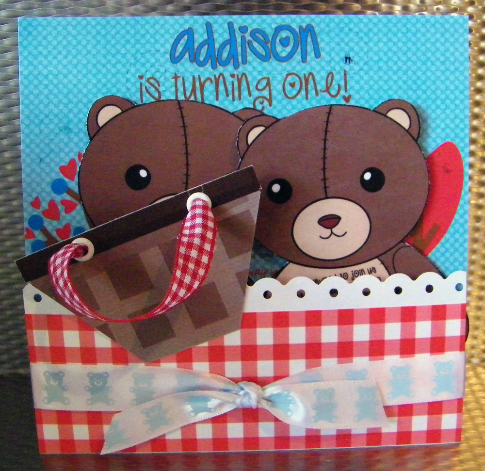 The Finished Birthday Invitation for Addison's Party