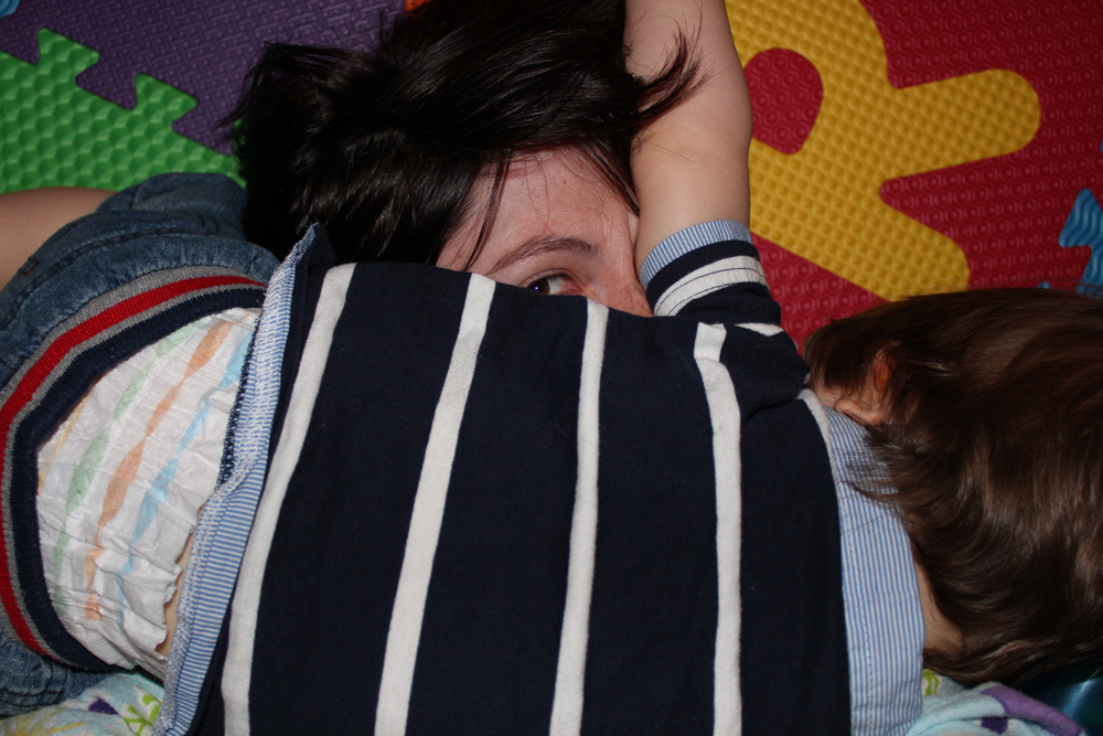 Addi Squishing Mummy