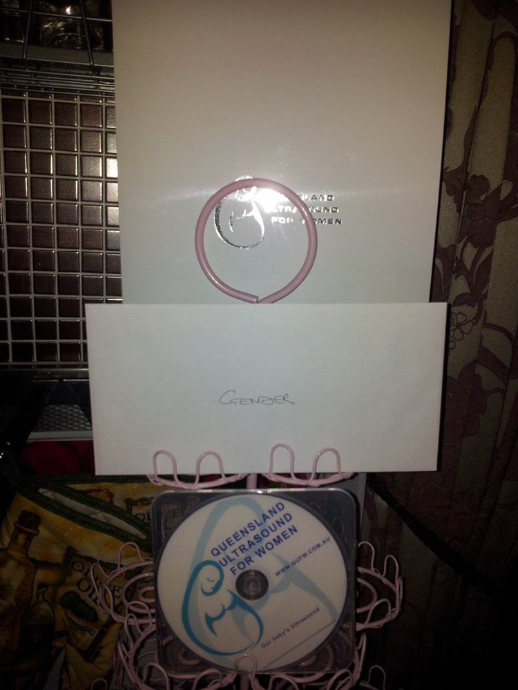 Our Ultrasound Photos, DVD and Squiggle's Gender in a Sealed Envelope