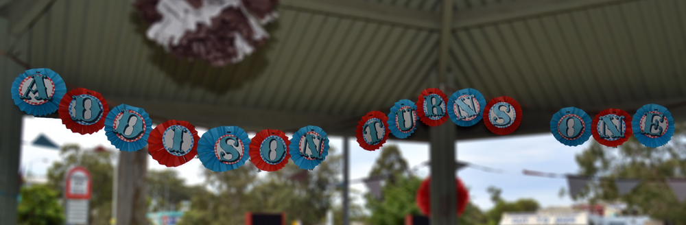 Paper Wheel Fan Birthday Banner